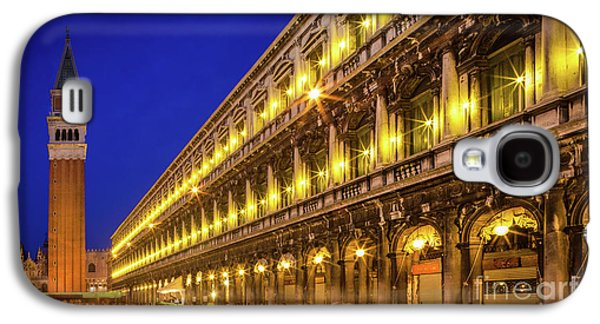 Piazza San Marco By Night Galaxy S4 Case by Inge Johnsson