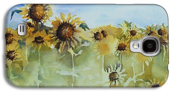 Sunflower Field Galaxy S4 Cases - Pick Me Galaxy S4 Case by Gretchen Bjornson