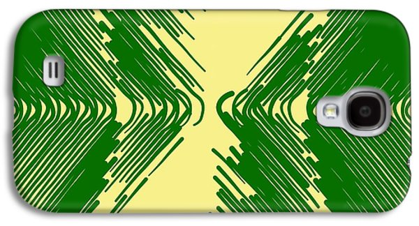 Abstract Digital Tapestries - Textiles Galaxy S4 Cases - Picking Up Galaxy S4 Case by Suzi Freeman