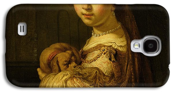 Puppies Galaxy S4 Cases - Picture of a Young Girl Galaxy S4 Case by Govaert Flinck