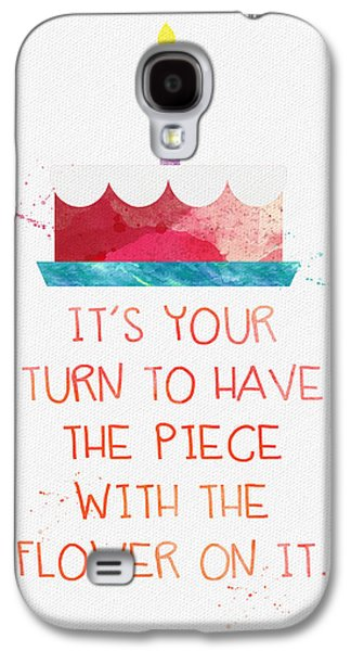 Birthday Galaxy S4 Cases - Piece of Cake- card Galaxy S4 Case by Linda Woods