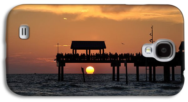 Pier Digital Galaxy S4 Cases - Pier 60 Clearwater Beach - Watching the Sunset Galaxy S4 Case by Bill Cannon