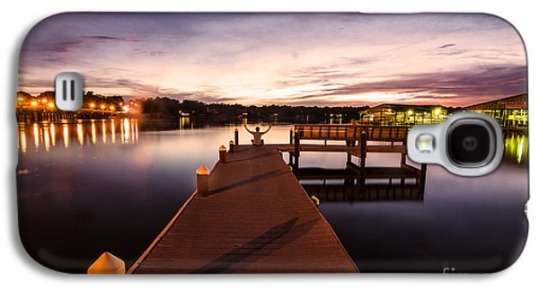 Transportation Tapestries - Textiles Galaxy S4 Cases - Pier at Night Galaxy S4 Case by James Hennis