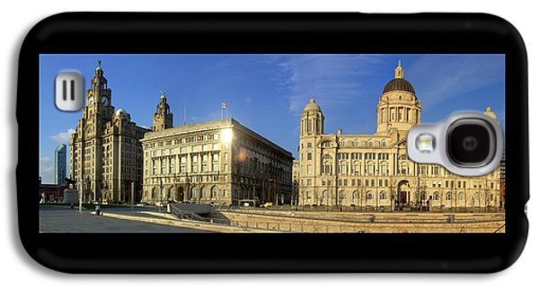 Beatles Galaxy S4 Cases - Pier Head Liverpool Panorama 2 Galaxy S4 Case by Steve Kearns