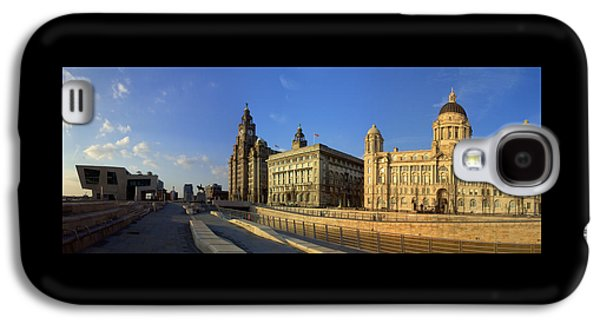 Beatles Galaxy S4 Cases - Pier Head Liverpool Panorama 3 Galaxy S4 Case by Steve Kearns