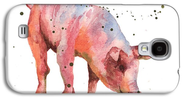 Pig Painting Galaxy S4 Case by Alison Fennell