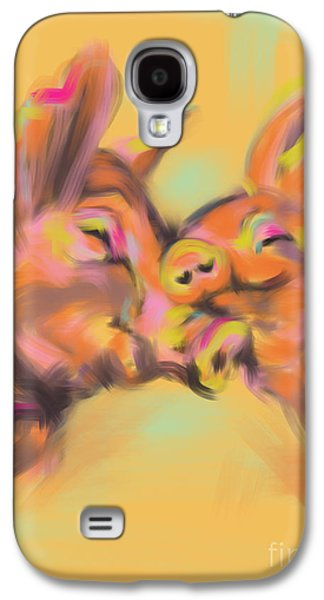 Piggy Love Galaxy S4 Case by Go Van Kampen
