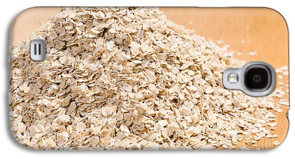 Porridge Galaxy S4 Cases - Pile of dried rolled oat flakes spilled  Galaxy S4 Case by Arletta Cwalina