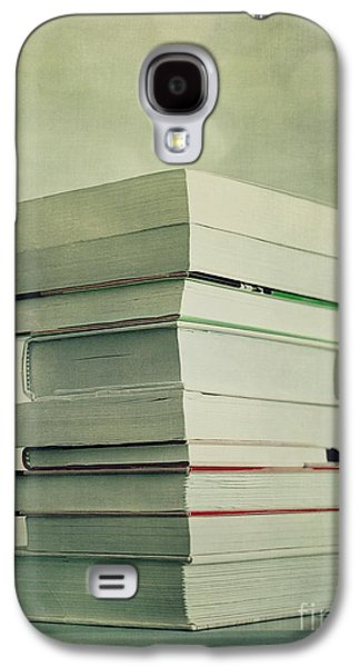 Tabletop Galaxy S4 Cases - Piled Reading Matter Galaxy S4 Case by Priska Wettstein