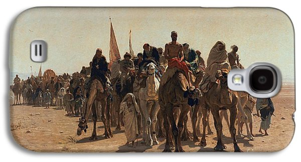 Pilgrims Going To Mecca Galaxy S4 Case by Leon Auguste Adolphe Belly