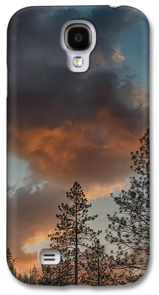 Colorful Cloud Formations Galaxy S4 Cases - Pillar of Fire Galaxy S4 Case by Bill Roberts