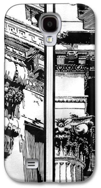 Lino Reliefs Galaxy S4 Cases - Pillars Galaxy S4 Case by Alexis Mackay