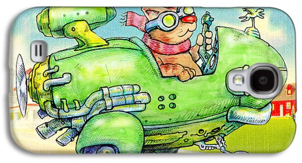 Aviator Drawings Galaxy S4 Cases - Pilot. Galaxy S4 Case by John Gieg