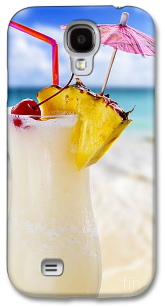 Blend Galaxy S4 Cases - Pina colada cocktail on the beach Galaxy S4 Case by Elena Elisseeva