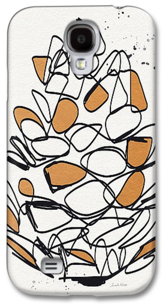 Harvest Art Galaxy S4 Cases - Pine Cone- Art by Linda Woods Galaxy S4 Case by Linda Woods