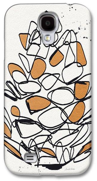 Copper Galaxy S4 Cases - Pine Cone- Art by Linda Woods Galaxy S4 Case by Linda Woods