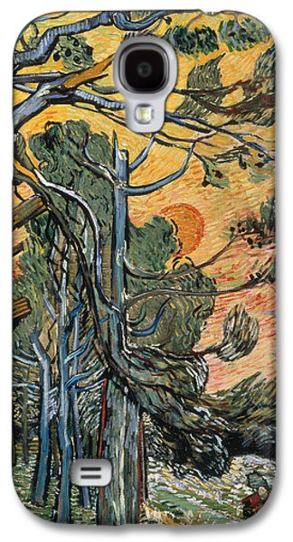 Pine Trees At Sunset Galaxy S4 Case by Vincent van Gogh