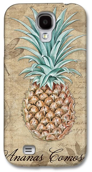Pineapple, Ananas Comosus Vintage Botanicals Collection Galaxy S4 Case by Tina Lavoie