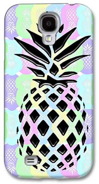 Pineapple Collage Galaxy S4 Case by Liesl Marelli