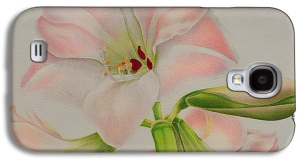Botanical Galaxy S4 Cases - Pink Amaryllis Galaxy S4 Case by Sharon Patterson