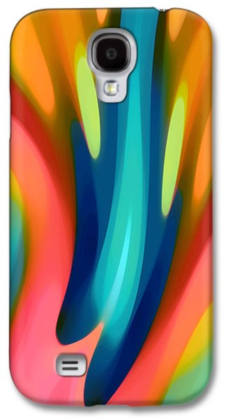 Abstract Forms Galaxy S4 Cases - Pink and Blue Lily Vertical Galaxy S4 Case by Amy Vangsgard