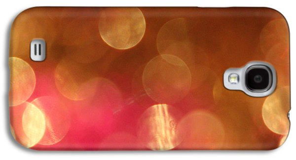 Celebration Photographs Galaxy S4 Cases - Pink and Gold Shimmer- Abstract Photography Galaxy S4 Case by Linda Woods