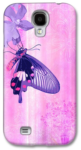 Quilt Galaxy S4 Cases - Pink and Purple Companions 1 Galaxy S4 Case by JQ Licensing