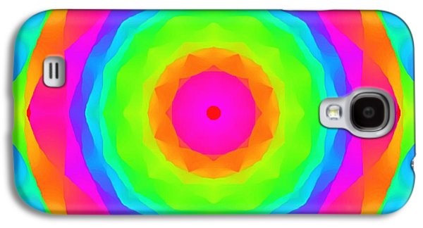 Abstract Digital Paintings Galaxy S4 Cases - Pink Ball Galaxy S4 Case by Floyd Snyder