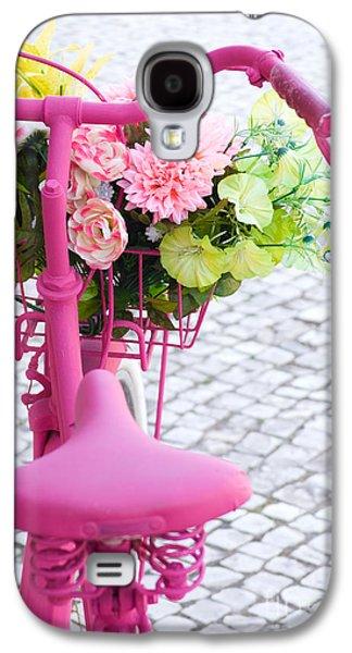 Pink Bike Galaxy S4 Case by Carlos Caetano