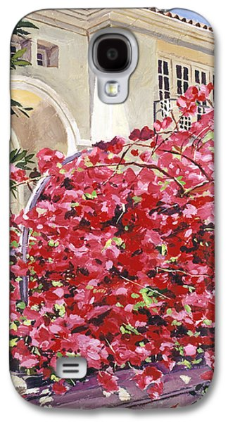 Los Angeles Paintings Galaxy S4 Cases - Pink Bougainvillea Mansion Galaxy S4 Case by David Lloyd Glover
