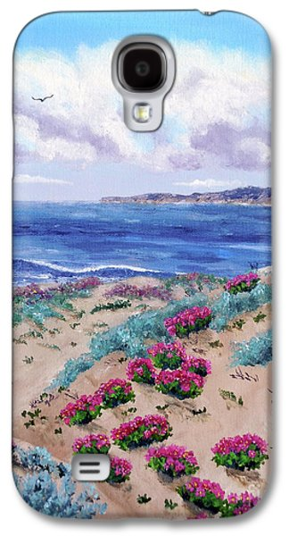 Half Moon Bay Galaxy S4 Cases - Pink Daisies in Sand Dunes Galaxy S4 Case by Laura Iverson