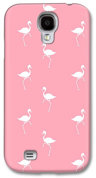 Pink Flamingos Pattern Galaxy S4 Case by Christina Rollo
