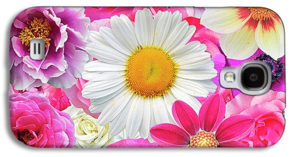 Pink Flowers  Galaxy S4 Case by Gloria Sanchez