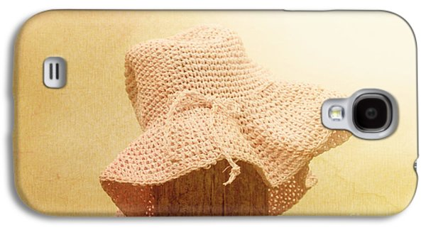 Pink Girls Hat On Farmyard Fence Post Galaxy S4 Case by Jorgo Photography - Wall Art Gallery