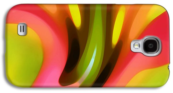 Abstract Forms Digital Galaxy S4 Cases - Pink Lily Horizontal Galaxy S4 Case by Amy Vangsgard