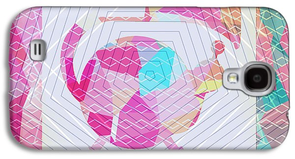 Colorful Abstract Galaxy S4 Cases - Pink music Galaxy S4 Case by Anita Fugoso