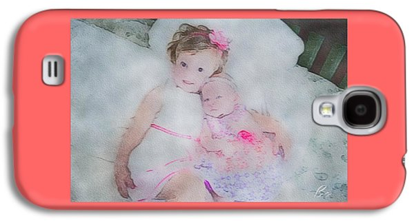 Portraits Tapestries - Textiles Galaxy S4 Cases - Pink on Pink Galaxy S4 Case by Bryann Cole
