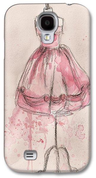 Pink Party Dress Galaxy S4 Case by Lauren Maurer