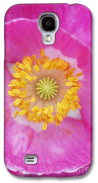 Stigma Galaxy S4 Cases - Pink Poppy Galaxy S4 Case by Tim Gainey
