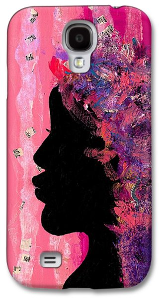 African-american Galaxy S4 Cases - Pink Profile Galaxy S4 Case by Empowered Creative Fine Art