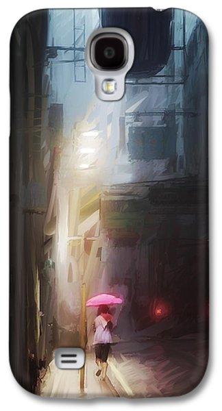 Pink Umbrella Galaxy S4 Case by H James Hoff