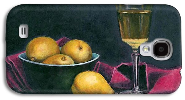 Pinot And Pears Still Life Galaxy S4 Case by Janet King