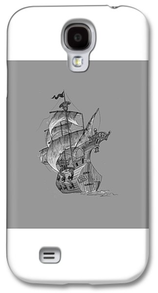 Pirate Ships Galaxy S4 Cases - Pirate ship Galaxy S4 Case by Andy Catling