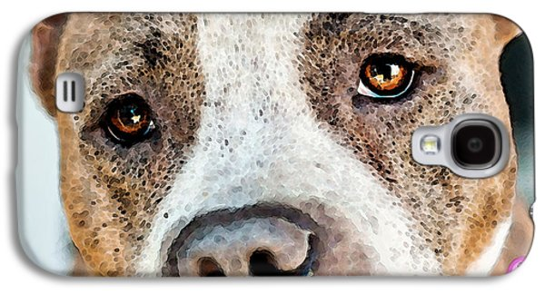 Dogs Digital Art Galaxy S4 Cases - Pit Bull Dog - Pure Love Galaxy S4 Case by Sharon Cummings