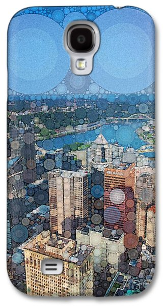 Abstract Digital Galaxy S4 Cases - Pittsburgh in Pixels Galaxy S4 Case by Amy Cicconi