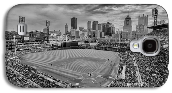 Pittsburgh Pirates Pnc Park Bw X Galaxy S4 Case by David Haskett
