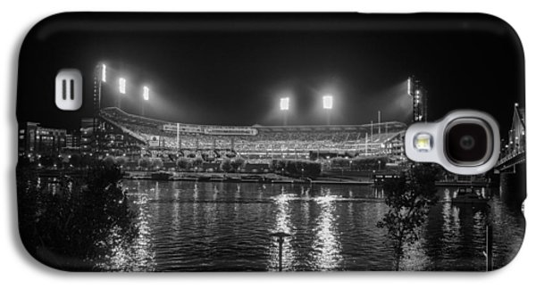 Pittsburgh Pirates Pnc Park Night Bw Galaxy S4 Case by David Haskett