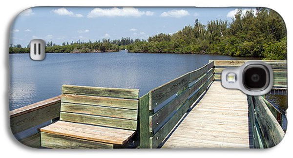 St. Lucie County Galaxy S4 Cases - Place for fishing or just sitting at Round Island in Florida  Galaxy S4 Case by Allan  Hughes