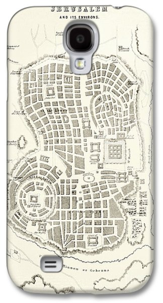 Plan Of Ancient Jerusalem As It Was Presumed To Be At The Time Of Jesus Christ Galaxy S4 Case by English School