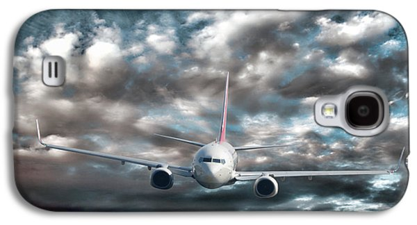 Airliner Galaxy S4 Cases - Plane in Storm Galaxy S4 Case by Olivier Le Queinec